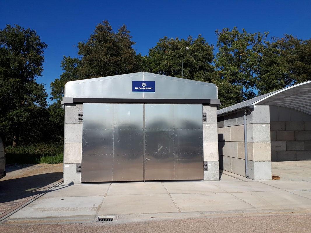 Schuifdak + aluminium deur